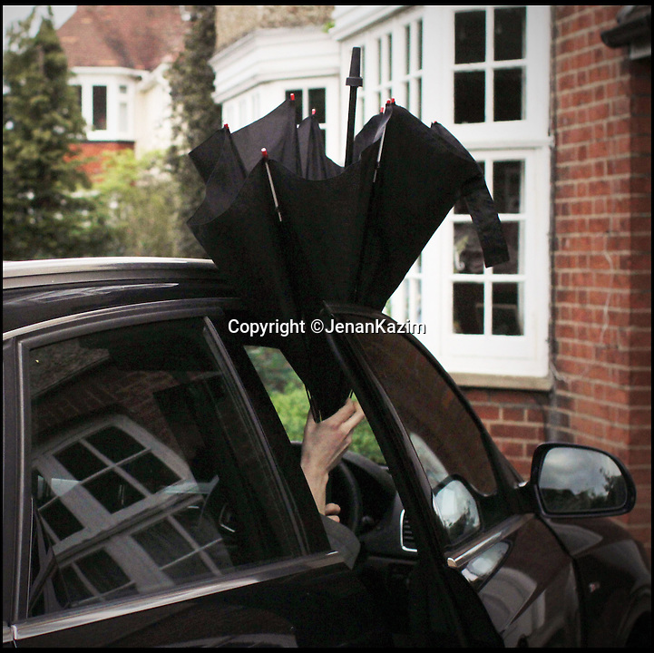 BNPS.co.uk (01202 558833)<br /> Pic: JenanKazim/BNPS<br /> <br /> ***Please Use Full Byline***<br /> <br /> The KAZbrella makes getting into your car a rain free procedure. <br /> <br /> <br /> Inventor Jenan Kazim is turning world of the humble brollie inside out - after designing one that folds inwards to stop water dripping onto the floor.<br /> <br /> Rather than creating pools of rainwater on the floor when it is put away like standard umbrellas, Jenan's clever idea folds the opposite way collecting drips inside it.<br /> <br /> And thanks to its canny design which opens from the top rather than the bottom it puts paid to the age-old problem of poking passers-by in the head with brolly spokes.<br /> <br /> It also means users can stay dry for longer by putting their umbrellas down once they are sat inside their cars rather than before. <br /> <br /> The umbrella, which has been named the KAZbrella, will cost around 45 pounds when it is launched just in time for Britain's notoriously wet winter.