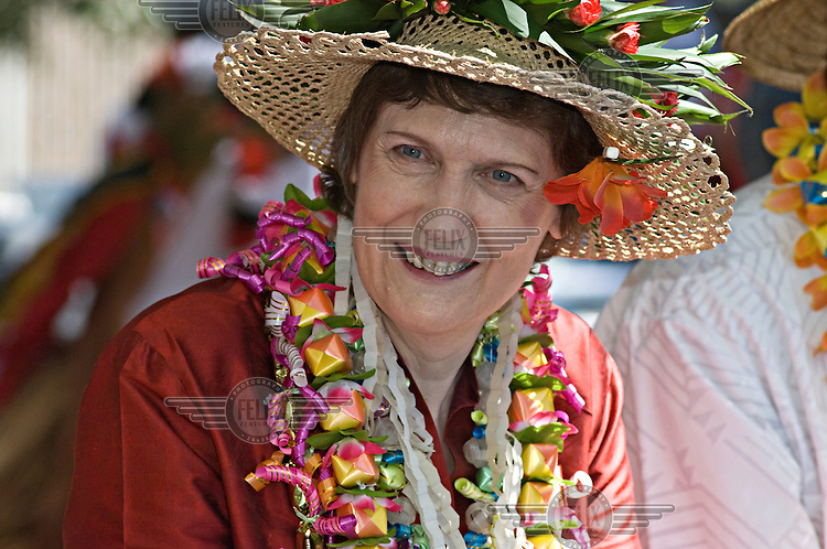 New Zealand Prime Minister Helen Clark at the annual Pasifika Festival in Auckland, the city that has the largest Polynesian population of any city in the world.