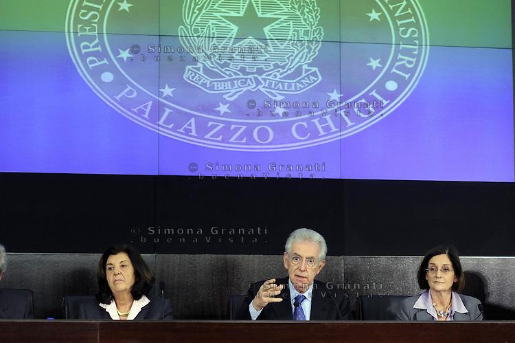 Roma, 20 Gennaio 2012.Conferenza stampa dopo il Consiglio dei Ministri sui decreti riguardanti le liberalizzazioni e la crescita economica
