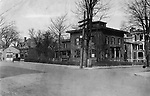 Burritt Homestead on the corner of Grand and Leavenworth Streets, later the site of the Chase building. Photo from the early 1900s