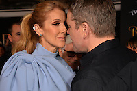 Celine Dion &amp; Matt Damon at the premiere for Disney's &quot;Beauty and the Beast&quot; at El Capitan Theatre, Hollywood. Los Angeles, USA 02 March  2017<br /> Picture: Paul Smith/Featureflash/SilverHub 0208 004 5359 sales@silverhubmedia.com