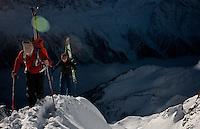 Arete ascent for the ski down.