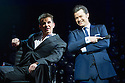London, UK. 21.03.2014. I CAN'T SING, by Harry Hill and Steve Brown, directed by Sean Foley, opens at the London Palladium. Picture shows: Nigel Harman (as Simon Cowell) and Simon Bailey (as Liam O'Deary). Photograph © Jane Hobson.