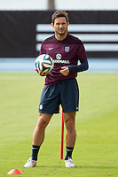 Frank Lampard of England during training