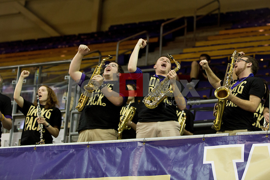 The University of Washington women's basketball team defeats Washington State University 53-44 at the Alaska Airlines Arena on the campus of the UW in Seattle, Wash. on January 15, 2013 (Photography By Scott Eklund/Red Box Pictures)