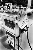 May 30, 1973, Princeton, New Jersey: Gas station Texaco on Road 1, North bound near Princton, New Jersey. Station closed with a sign on the door. The price of gas at that time was 35.9 per gallon.