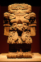 Statue of Coatlicue, the ancient Aztec earth goddess. Museo Nacional de Antropologia, Chapultepec Park, Mexico City.