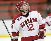 Colin Moore (Harvard - 12) - The visiting Quinnipiac University Bobcats defeated the Harvard University Crimson 3-1 on Wednesday, December 8, 2010, at Bright Hockey Center in Cambridge, Massachusetts.