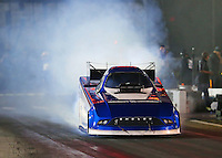 Jun 17, 2016; Bristol, TN, USA; NHRA funny car driver Dave Richards during qualifying for the Thunder Valley Nationals at Bristol Dragway. Mandatory Credit: Mark J. Rebilas-USA TODAY Sports