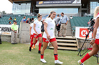 Cary, North Carolina  - Sunday May 21, 2017: Lauren Kaskie prior to a regular season National Women's Soccer League (NWSL) match between the North Carolina Courage and the Chicago Red Stars at Sahlen's Stadium at WakeMed Soccer Park. Chicago won the game 3-1.