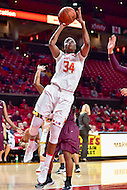 College Park, MD - NOV 16, 2016: Maryland Terrapins forward Brianna Fraser (34) goes up strong to the basket during game between Maryland and Maryland Eastern Shore Lady Hawks at XFINITY Center in College Park, MD. The Terps defeated the Lady Hawks 106-61. (Photo by Phil Peters/Media Images International)