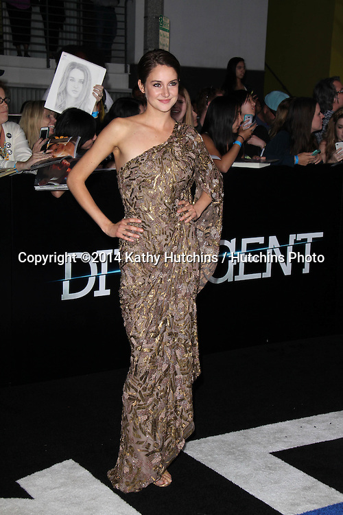 """LOS ANGELES - MAR 18:  Shailene Woodley at the """"Divergent"""" Los Angeles Premiere at Bruin Theater on March 18, 2014 in Westwood, CA"""