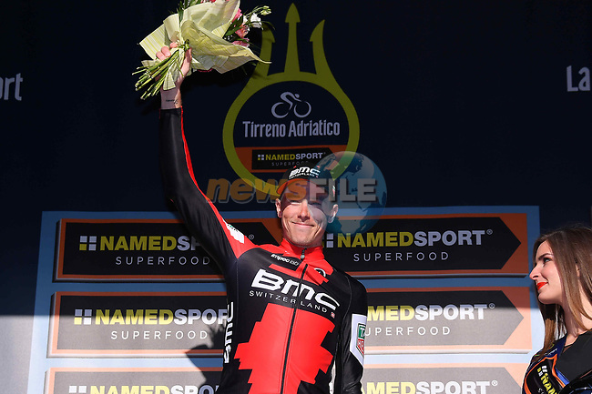 Rohan Dennis (AUS) BMC Racing Team wins Stage 7 of the 2017 Tirreno Adriatico a 10km Individual Time Trial at San Benedetto del Tronto, Italy. 14th March 2017.<br /> Picture: La Presse/Gian Mattia D'Alberto | Cyclefile<br /> <br /> <br /> All photos usage must carry mandatory copyright credit (&copy; Cyclefile | La Presse)