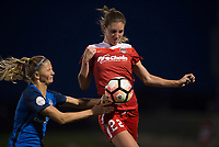 Boyds, MD - Saturday May 20, 2017: Alyssa Kleiner and Katie Bowen during a regular season National Women's Soccer League (NWSL) match between the Washington Spirit and FC Kansas City at Maureen Hendricks Field, Maryland SoccerPlex.