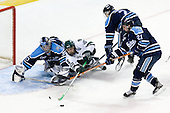 Ben Bishop (University of Maine - Des Peres, MO), Tim Crowder (Michigan State - Victoria, BC), Matt Duffy (University of Maine - Windham, ME), Mike Lundin (University of Maine - Apple Valley, MN) - The Michigan State Spartans defeated the University of Maine Black Bears 4-2 in their 2007 Frozen Four semi-final on Thursday, April 5, 2007, at the Scottrade Center in St. Louis, Missouri.