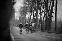 3 Days of West-Flanders, .day 3: Nieuwpoort-Ichtegem.the peloton in pieces; Chichi pulling hard to get back