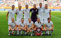 Starting Eleven of team USA during the FIFA Women's World Cup at the FIFA Stadium in Sinsheim, Germany on July 2nd, 2011.