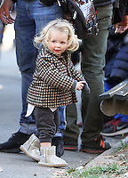 NEW YORK, NY November 07:Cate Blanchett's daughter Edith Upton on the set of Ocean 8 in Central Park New York. November 07, 2016. Credit: RW/MediaPunch