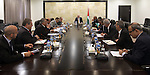 Palestinian Prime Minister Rami Hamdallah, chairs a meeting of the Ministerial Committee, in the West Bank city of Ramallah, on august 31, 2015. Photo by Prime Minister Office