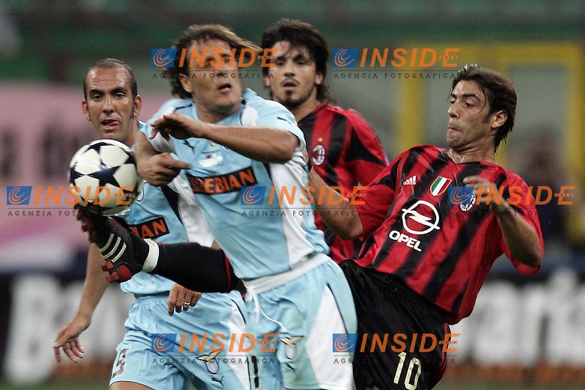 Milano 21/8/2004 Supercoppa Italiana - Italian Supercup Milan Lazio 3-0 Manuel Rui Costa Milan and Roberto Muzzi Lazio <br /> Foto Andrea Staccioli Insidefoto