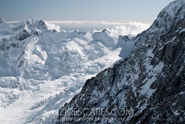 Head ice of the La Perouse Glacier -  Westland National Park
