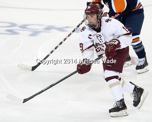 Danielle Doherty (BC - 19) - The Boston College Eagles defeated the visiting Syracuse University Orange 10-2 on Saturday, October 4, 2014, at Kelley Rink in Conte Forum in Chestnut Hill, Massachusetts.