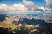 Aerial of the north side of the Brooks mountain range, Arctic, Alaska.