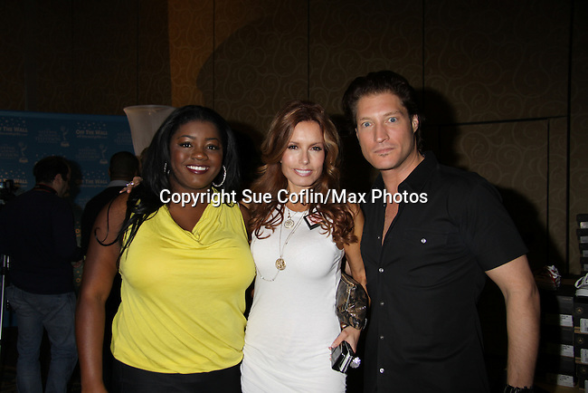 Y&R Julia Pace Mitchell with Tracey Bregman & Sean Kanan in the gifting suite at the 38th Annual Daytime Entertainment Emmy Awards 2011 held on June 19, 2011 at the Las Vegas Hilton, Las Vegas, Nevada. (Photo by Sue Coflin/Max Photos)