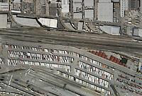 aerial photo map of BNSF Hobart Railyard, Los Angeles Intermodal Facility, Vernon, California
