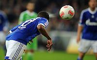 FUSSBALL   1. BUNDESLIGA  SAISON 2012/2013   7. Spieltag   FC Schalke 04 - VfL Wolfsburg        06.10.2012 Jefferson Farfan (FC Schalke 04) erzielt per Kopf das Tor zum 1:0