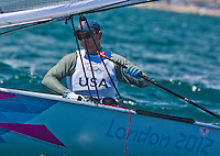 Finn. USA.Railey Zach.2012 Olympic Games .London / Weymouth