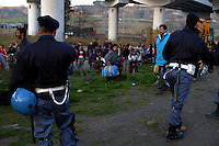 Roma 30 January 2008.Vacated Rom's camp  of via of the Imbrecciato under the bridge of Magliana inhabited by  Romanian Romani forced to leave the camp by the police