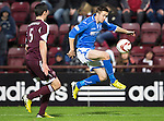 Hearts v St Johnstone....02.11.13     SPFL<br /> Gwion Edwards and Dylan McGowan<br /> Picture by Graeme Hart.<br /> Copyright Perthshire Picture Agency<br /> Tel: 01738 623350  Mobile: 07990 594431