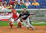 12 April 2008: Atlanta Braves' shortstop Yunel Escobar at bat against the Washington Nationals at Nationals Park, in Washington, DC. The Braves defeated the Nationals 10-2...Mandatory Photo Credit: Ed Wolfstein Photo