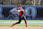 19 February 2017: Ohio State's Emily Clark. The Ohio State University Buckeyes played the University of Louisville Cardinals at Anderson Family Softball Stadium in Chapel Hill, North Carolina as part of the ACC/Big 10 College Softball Challenge. OSU won the game 4-3.