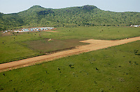 The pristine grasslands of south-eastern Sudan where the second or largest annual migration of wild life, equal or bigger then the Serengeti, is also hosting a estate of the Nahyan Royal family of Abu Dhabi, United Arab Emirates, under a contract to use it for the next 50 years. The UAE royals have similar estates like this, in Tanzania where they are famous for their extravagant huntings practices that include helicopters and machine guns. (PHOTO: MIGUEL JUAREZ LUGO)