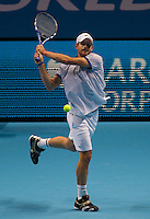 Andy Roddick (USA) (8) against Rafael Nadal (ESP) (1) in a Group A match. Rafael Nadal beat Andy Roddick 3-6 7-6 6-4..International Tennis - Barclays ATP World Tour Finals - O2 Arena - London - Day 2 - Mon 22 Nov 2010..© Frey - AMN Images, Level 1, Barry House, 20-22 Worple Road, London, SW19 4DH.Tel - +44 208 947 0100.Email - Mfrey@advantagemedianet.com.Web - www.amnimages.photshelter.com