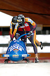 19 November 2005: Matthias Hoepfner pilots the Germany 2 sled to a 10th place finish at the 2005 FIBT AIT World Cup Men's 2-Man Bobsleigh Tour at the Verizon Sports Complex, in Lake Placid, NY. Mandatory Photo Credit: Ed Wolfstein.