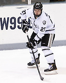 Alex Velischek (PC - 27) - The Providence College Friars tied the visiting Boston College Eagles 3-3 on Friday, December 7, 2012, at Schneider Arena in Providence, Rhode Island.