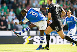 St Johnstone v Celtic....15.09.12      SPL  .Gregory Tade scores for St Johnstone.Picture by Graeme Hart..Copyright Perthshire Picture Agency.Tel: 01738 623350  Mobile: 07990 594431