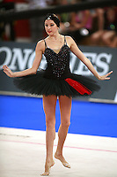 September 23, 2007; Patras, Greece;  Vera Sessina of Russia perform during gala exhibition at 2007 World Championships Patras.  Vera finished 2nd in the All-Around final and help Russia win the 1st of 2-positions for individuals at 2008 Beijing Olympic Games.  Photo by Tom Theobald.