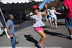 Guests dance to the music of Michale Barret and Friends at the Los Altos Fall Festival.