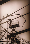 worker on platform
