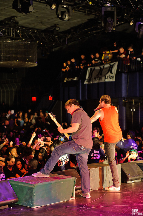 August Burns Red performs at Best Buy Theater in Times Square on November 24, 2010. New York City