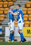 St Johnstone v Stenhousemuir&hellip;21.01.17  McDiarmid Park  Scottish Cup<br />Blair Alston celebrates his goal with David Wotherspoon<br />Picture by Graeme Hart.<br />Copyright Perthshire Picture Agency<br />Tel: 01738 623350  Mobile: 07990 594431