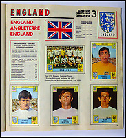 BNPS.co.uk (01202 558833)<br /> Pic: BerkshireAuctionRooms/BNPS<br /> <br /> The tounament favourites England were tragically knocked out by the Germans...<br /> <br /> A schoolboy's precious pennies have turned into &pound;1200 as a complete Panini sticker album from the legendary 1970 World Cup has emerged for auction.<br /> <br /> Not only did Mexico 70 give rise to some of the most famous World Cup moments of all time, it also launched the Panini brothers as a global brand and led to frantic playground swapping up and down Britain.<br /> <br /> The tournament held 47 years ago is often cited as the greatest World Cup. With 'the most beautiful goal of all time', Gordon Bank's save, Gerd Muller up front for Germany and Bobby Moore v Pele the tournament had everything.<br /> <br /> The complete album is being sold by Berkshire Auction Rooms on Saturday.