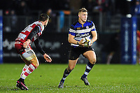 Jack Walker of Bath Rugby in possession. Anglo-Welsh Cup match, between Bath Rugby and Gloucester Rugby on January 27, 2017 at the Recreation Ground in Bath, England. Photo by: Patrick Khachfe / Onside Images