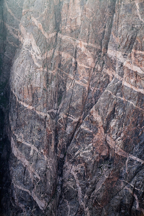 The Painted Wall. Black Canyon of the Gunnison National Park near Montrose, Colorado.