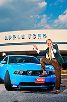 (photo by Matt Roth).Tuesday, October 12, 2010..This was supposed to be a photo for the Best of Howard Magazine. Apple Ford was voted Best Car Dealership, but the owner hated the image.