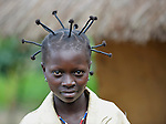 A young woman in the Congolese village of Minga.